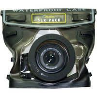 DiCAPac WP-S10 Waterproof Case   will protect your SLR camera when you are using it at the beach, swimming, kayaking, skiing, fishing, sailing, snorkeling or diving. This is a PVC vinyl housing with a polycarbonate lens. It can be used with SLR cameras to a depth of 5 meters or 16 feet.