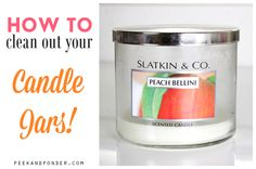 How to Clean Out Your Candle Jars
