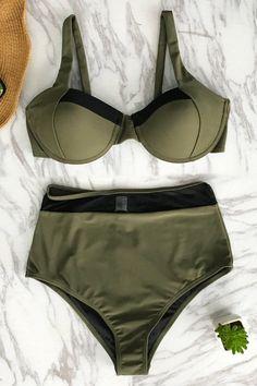 Cupshe Righteous Ardour High-waisted Bikini Set