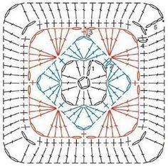 Transcendent Crochet a Solid Granny Square Ideas. Inconceivable Crochet a Solid Granny Square Ideas. Motifs Granny Square, Granny Square Crochet Pattern, Crochet Blocks, Crochet Diagram, Crochet Chart, Crochet Squares, Love Crochet, Crochet Granny, Granny Squares