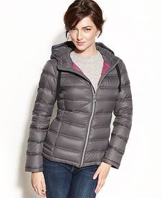Calvin Klein Coat, Packable Hooded Quilted Puffer - Coats - Women - Macy's