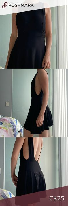 American Apparel Black Backless Dress Super stretchy and soft backless and sideless dress! American Apparel Dresses Mini American Apparel Dress, Plus Fashion, Fashion Tips, Fashion Trends, Backless, Mini, Closet, Outfits, Collection