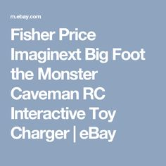Fisher Price Imaginext Big Foot the Monster Caveman RC Interactive Toy Charger   | eBay