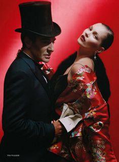 Кейт Мосс и Джон Гальяно в декабрьском номере Vogue UK (2013)