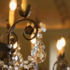 Use crystals from a broken chandelier for your cake stand.