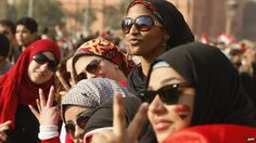 "Women in Tahrir Square in 2011 during the Egyptian ""revolution"""