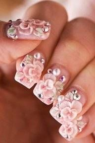 3D nail art- The Japanese trend of Decoden which has been rocking everything there from nails & cell phone cases to school books & jewelry has finally hit North Americas main stream!