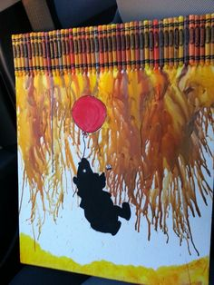 Winnie The Pooh Crayon Art. I NEED to make this... :)