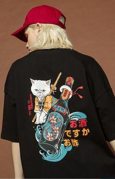 harajuku t shirt women clothes 2019 streetwear korean style tee shirt femme hip hop tops Japanese fashion print oversized tshirt Shirt Print Design, Tee Shirt Designs, T Shirt Print, Japanese Fashion, Korean Fashion, Cute Dresses, Cute Outfits, Vetement Fashion, Painted Clothes