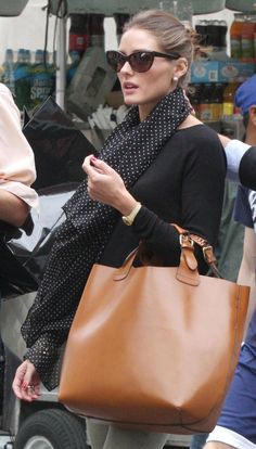 Olivia Palermo. I so need this scarf in my closet.