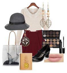 """""""Book Lovers Outfit"""" by vintagegirl1940 ❤ liked on Polyvore featuring NOVICA, Marc Jacobs and Goorin"""