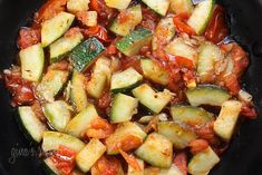 Sauteed Zucchini with Plum Tomatoes #vegetables #sidedish #lent #vegetarian