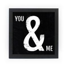 Poster Emoldurado - You & Me - Decohouse