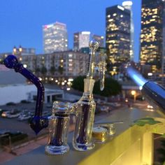 Pretty pretty @purrglass #dabs in downtown #losangeles - this #rig is called the #FullDouble #marijuana