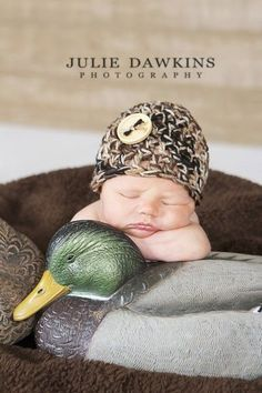 BABY CAMO BEANIE Newborn Hat Photo Prop by