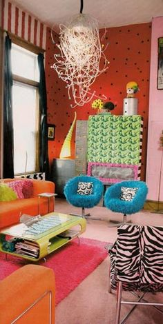 """The chairs remind me of Thing 1 and Thing 2 from """"The Cat in the Hat"""" by Dr, Suess."""