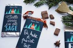 tablette-chocolat-printable-noel Christmas Labels, Last Christmas, Christmas Printables, Christmas Ornaments, Diy Cadeau Noel, Merry Xmas, Wordpress Theme, Wraps, Packaging