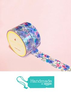 Blue Vintage Summer Flowers Washi Tape for Planning • Scrapbooking • Arts Crafts • Office • Party Supplies • Gift Wrapping • Colorful Decorative • Masking Tapes • DYI from Mery Keem https://www.amazon.com/dp/B071JXM9GY/ref=hnd_sw_r_pi_dp_k8DIzb5VVRD1S #handmadeatamazon