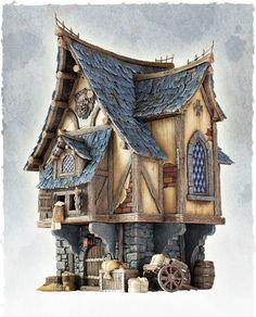 stylized house: