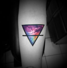 From Earth To Outer Space - Triangular Tattoos That Beautifully Portray The Four Elements - Photos