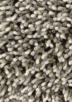 GRAVEL 68201 - hoogpolig geweven wollen vloerkleed in zowel uni als ook kleurmelanges