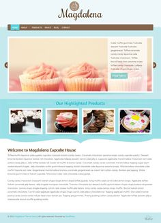 A chic food business WordPress theme from BluChic designed for cupcake, bakery and other food business websites