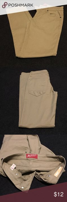 Khaki Pants Men's Arizona brand pants (JcPenny) 29x32 skinny khakis. They were my little brothers pants, he wore them when he had to dress up for going away volleyball matches. They no longer fit him and are in great condition.               Feel free to bundle or make an offer! Arizona Jean Company Pants Chinos & Khakis