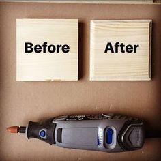 First experiment with dremel #wood #dremel #etsy #diy #etsy #handmade #tool #decoration #stringart #art #engraving #artist #work #passion #instaart #love #woodworking #woods #woodwork #carving #artwork #project #instagram #lfl #like #follow #followme #beforeandafter #before #after @dremel @dremelitalia @woodart.serbia