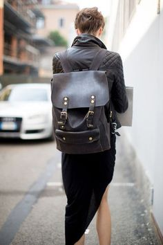 The Functional Backpack - Street Style Spotlight: Bringing Back the Backpack - StyleBistro