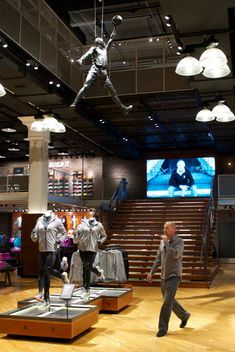 Portland is where Nike began. Understandably, we have one of the best Nike stores. This half-store, half-museum is quite the sight to see.