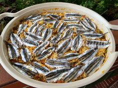 I know Málaga: Fish Rice with anchovies Pasta, Batch Cooking, Malaga, Japchae, Risotto, Salmon, Seafood, Chicken, Ethnic Recipes