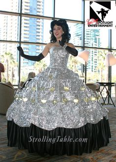 Strolling Champagne Dress - skirt has rows of glasses with champagne on it.