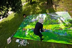 The Central Park Painter, Janet Ruttenberg.  NYT Article: http://www.nytimes.com/2013/10/13/nyregion/the-painter-janet-ruttenberg-likens-the-sheep-meadow-to-a-cathedral.html?hp&_r=0
