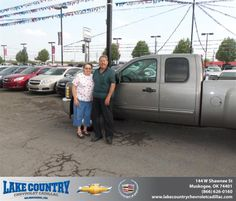 #HappyAnniversary to Steven Cook on your 2013 #Chevrolet #Silverado 1500 from Michael Ridenhour  at Lake Country Chevrolet Cadillac!