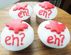 cupcake ideas for Canada Day