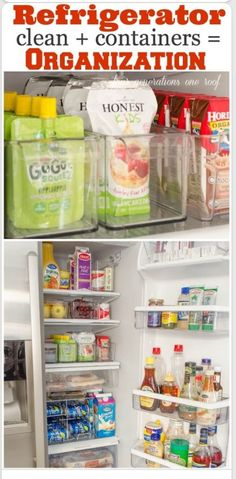 Refrigerator organization - because lets face it, your fridge is just as unorganized as mine!