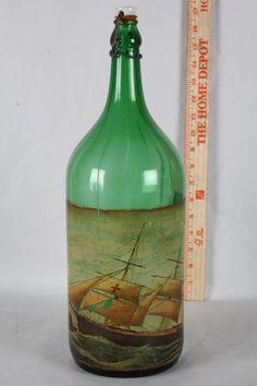 Vintage 1920s Sicily RALLO Marsala Wine Bottle