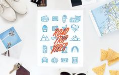Take your love on the road with Ello There's Road Trip Letter Press Card!