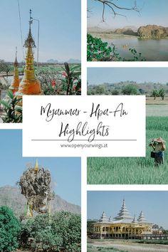 Zwar kann Hpa-An selbst nicht mit großen Touristenattraktionen aufwarten, dennoch lohnt es sich die Stadt zu besuchen. Sie ist der perfekte Ausgangspunkt für Roller-Ausflüge in die nahegelegenen kleinen Dörfer, zu den idyllischen Reisfeldern und natürlich zu den Höhlen - die absoluten Highlights von Hpa-An. Wer zudem das ländliche Leben in Myanmar kennenlernen will, für den ist Hpa-An genau das Richtige. Hpa An, Taiwan, Vietnam, Highlights, Treasures Reading, Singapore, Getting To Know, Helpful Tips, Beautiful Places