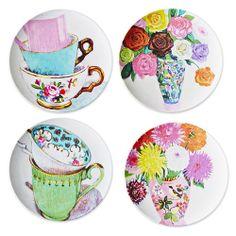 Party Ark's 'Vintage Blooms Melamine Tea Party Plate'