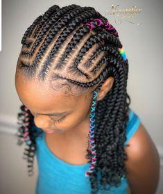 Feed In Braids Hairstyles, Black Kids Hairstyles, Baby Girl Hairstyles, Kids Braided Hairstyles, Cute Hairstyles, Kid Braid Styles, Natural Hair Styles, Long Hair Styles, Braids For Kids