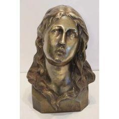Antique Bronze bust of Saint Mary Magdalene, ca. Sculpture Art, Sculptures, Mary Magdalene, Ruby Lane, Saints, Bronze, Statue, Antiques, Beautiful