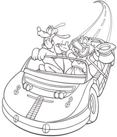 Epcot - Test Track - Uncle Scrooge McDuck & Pluto