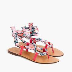 Liberty print sandals from J.Crew. Details at une femme d'un certain age.