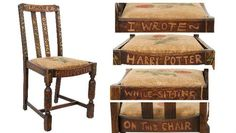 Harry Potter Chair that JK Rowling say in to write the first 3 Novels