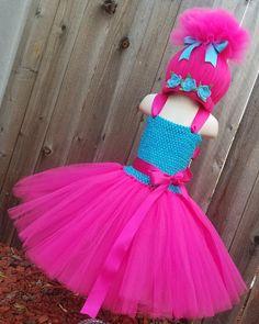 JUST ADDED Poppy Troll Inspired Costume Poppy Tutu Dress