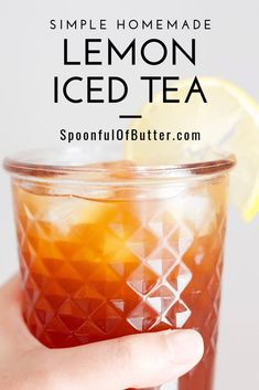 I love making my own iced tea because I can adjust the sugar according to my taste - definitely a healthy alternative to store-bought ones. For this recipe, you can actually taste REAL black tea and REAL lemon – not just sweetness. It's easy to make too. Sweet Tea Recipes, Iced Tea Recipes, Lemon Iced Tea Recipe, Filipino Recipes, Filipino Food, Making Iced Tea, Butter Ingredients, Pinoy Food, Alcohol Recipes