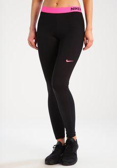 Nike Performance Legginsy - black/racer pink/racer pink   #leggins #legginsy #sport #trening #training Black Racer, Black Leggings, Sports, Pink, Ideas, Fashion, Hs Sports, Moda, Fashion Styles