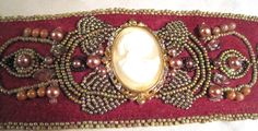 Another bead embroidery by Sharon A. Kyser with seed beads
