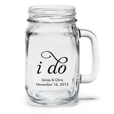 Personalized Mason Jar Drinking Glass Perfect gift for the groom Personalized Mason Jars, Personalized Wine Glasses, Wedding Favours Bridesmaids, Wedding Favors, Wedding Decor, Wedding Mugs, Wedding Souvenir, Wedding Bells, Rehearsal Dinner Favors
